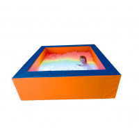Сухий басейн з підсвічуванням квадратний